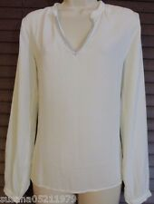 NWT bebe METALLIC NECK BLOUSE SIZE S Haute georgette pullover blouse.