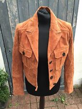 Gorgeous BNWT Mango MNG Suede Orange Tan Brown Jacket Size S