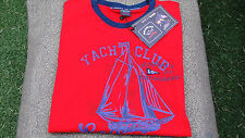 New Paul & Shark Admiral's Collection T-Shirt Red size Large Superb quality WOW!