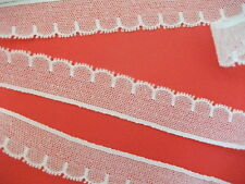 """Fc267 bianco cotone CLUNY NOTTINGHAM tulle pizzo 1"""" ampi. MADE IN G. BRETAGNA"""