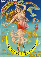 Theatre Geant l' Orient French Nouveau France Vintage Advertisement Art Poster