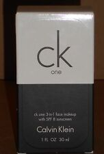 NEW CK One by Calvin Klein 3-in-1 Face Makeup 1 oz HONEY 600 Exp 10/14