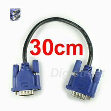 0.3m Very Short 15Pin D-Sub VGA SVGA Male PC To LED TV Monitor Video Cable Lead