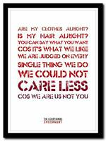 ❤ THE COURTEENERS Sycophant ❤ song lyric words art poster print - A1 A2 A3 or A4