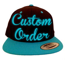 Custom Order for an El wire Snapback Hat - FREE SHIPPING - Light Up Hat