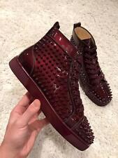NIB Christian Louboutin Louis Orlato Orthodoxe Spike Patent Sneaker Flats 40