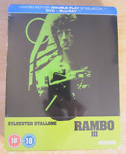 Rambo III 3 Blu-Ray Steelbook [UK] Region B Sylvestor Stallone Sealed Action War