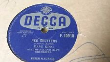 DAVE KING RED SHUTTERS & WITH ALL MY HEART DECCA F10910