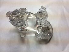 Chinese Carved Rock Crystal Foo Dog