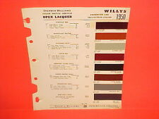1950 WILLYS JEEP CJ-2A CJ-3A JEEPSTER PHAETON STATION WAGON TRUCK PAINT CHIPS