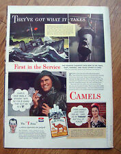 1943 Camel Cigarette Ad WW II Submarine Slugger They've got what it Takes