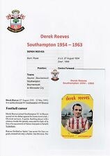 DEREK REEVES SOUTHAMPTON 1954-1963 RARE ORIGINAL HAND SIGNED ABC CARD