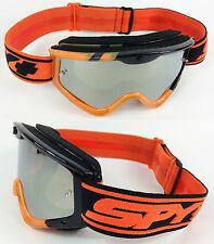 Spy Optics Targa 3 Motocross Goggles Negro Naranja el domingo con lente de espejo de plata