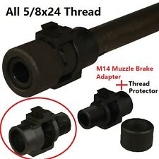 M14Muzzle Brake Adapter 5/8x24 Thread + Thread Protector 5/8x24 Thread