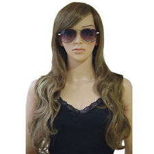 Long Hair Synthetic Wig Curly Straight Wave Colorful Ombre Two Tone Full Wigs