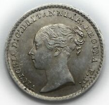 1849 MAUNDY PENNY - VICTORIA BRITISH SILVER COIN - V NICE