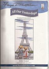 "Counted Cross Stitch All Our Yesterdays 9"" x 19"" Eiffel Tower (075-22)"