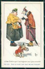 Mich Lady Dog comic postcard cartolina QT6818