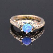 GORGEOUS! NATURAL FIRE OPAL GOLD PLATED RING SIZE 5.5/6.5/7.5/8.5 R1045