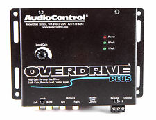 NEW AUDIOCONTROL OVERDRIVE PLUS BLACK LINE DRIVER W INPUT FOR REM LEVEL CONTROL