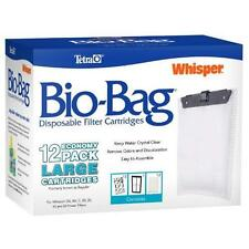 Tetra Whisper Unassembled Disposable Bio-Bag Filter Cartridges Large 12-Pack New