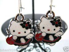 Hello Kitty oorhangers oorbellen oorringen, plaatje =  24 x 18 mm