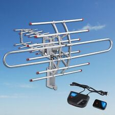 HDTV 1080P Outdoor Amplified Antenna Digital HD TV UHF/VHF/FM 150 Mile