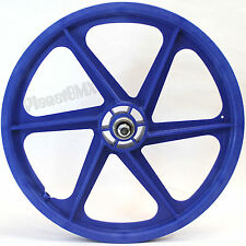"Skyway BLUE 20"" Six Spoke TUFF WHEELS Mag SET old school BMX sealed USA-made"
