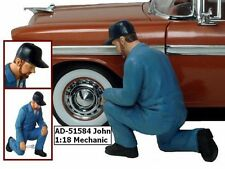 Mechanic John Figure Blue American Diorama Figurine 51584 1/18 Scale Diecast Car