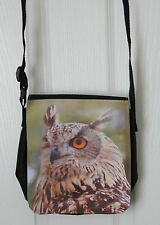 Shoulder bag with a print of an Eagle Owl photo