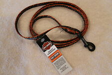 """DOG PUPPY CAT LEASH - HARLEY DAVIDSON """"Flame"""" - #36402 - 4 ft - NEW"""