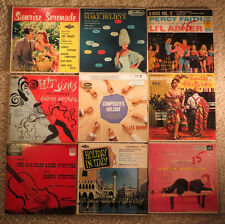 Vintage Lot of 9 Cardboard Sleeve EP 45 Records 1950's - Orchestra, Easy Listen