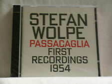 STEFAN WOLPE Passacaglia First Recordings 1954 David Tudor Hat Art SEALED CD