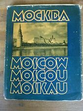 MOCKBA MOSCOW MOSCOU MOSKAU 1960 - 116 pages Belles Photos N&B et Couleurs