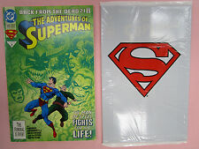 1993 ADVENTURES OF SUPERMAN #500  BAGGED TRANSLUCENT + NEWSTAND COVER #500 VF