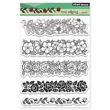 PENNY BLACK RUBBER STAMPS CLEAR ROSE EDGING NEW STAMP SET 2013