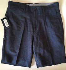 Mens Hart Schaffner Marx Linen Cotton Flat Front Shorts Size 32