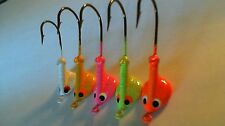 50 - 3/8 oz. STAND UP JIG HEADS WALLEYE BASS *Assorted Colors*