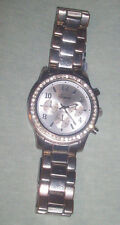 Unisex Women Geneva Bling Stainless Steel Rhinestone Crystal WristWatch NR