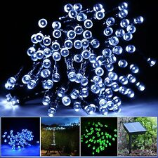 Solar 300Led 32M String Lights Bright Fairy Wedding Party Chrismas  Warm White
