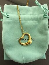 18k Yellow Gold Tiffany & Co Peretti Ladies Heart Pendant And Necklace