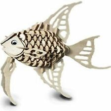 Angel Fish: Woodcraft Construction Wooden 3D Model Kit