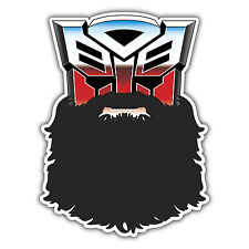 AUTOBEARD autobot transformers hipster sticker by mr oilcan 65 x 100mm