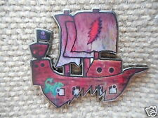 """10 Pack of RARE """"GDF Ship"""" Pins FREE SHIPPING (Heady Grateful Dead Trip Hat Pins"""