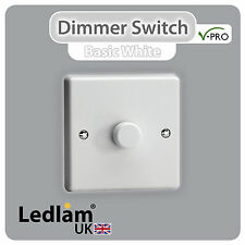 Ledlam - Varilight V-Pro Intelligent LED dimmer switch push ON/OFF Trailing Edge