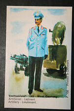West German Artillery  1966  Uniform    Illustrated Card  VGC