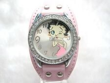 Reloj Betty Boop ROSA con remaches watch Pink color A1492