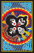 KISS - BLACKLIGHT POSTER - 24X36 FLOCKED MUSIC SIMMONS DISC 22030