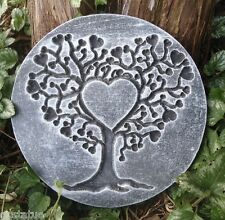 Gostatue MOLD heart tree of life plaque concrete plaster mould