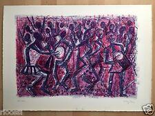 Eduard fecondare esercito litografia Africa tam-tam 1966 ex.100/120 59x42cm firmato